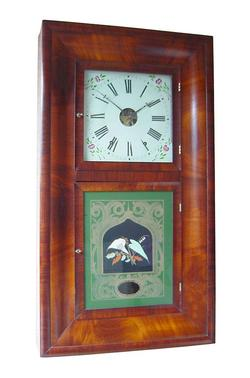 Double OG Shelf Clock (Circa 1865) Chauncey & Jerome, American, Mahogany,