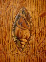 Conch shell inlay to centre of door complete.