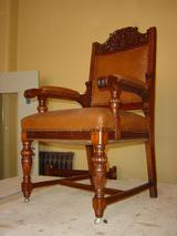 Mahogany carver chair restoration complete.