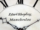 Edward Shepley, Norwich style wall clock name & dial untouched, (Circa 1780)