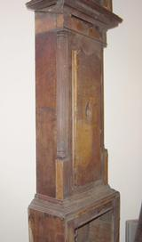 Oak longcase trunk & door