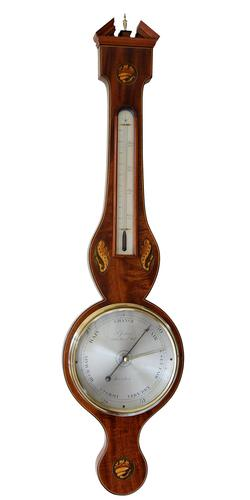 Wheel Barometer, S Jenkins, Sheraton Style 68 Red Lion St, Holt, (Circa 1820)