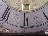 J Mitchell Penny Moon Bracket Clock, (Circa) 1715), Signature.