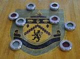 Burnley Football Club Shield Inlay to Centre of Table
