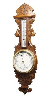 Oak Carved Barometer, Full Size (Circa1900).