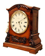 W Grace London, Mahogany Bracket Clock, Angled View (Circa 1850).