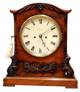 W Grace London, Mahogany Bracket Clock, (Circa 1850)
