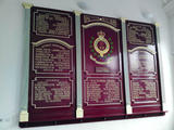 Various Moldings made for the Roll of Honour Board.