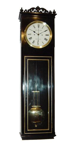 Ebony Wall Clock Regulator by Arnold and Lewis  (Circa 1871)