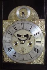 J Mitchell Penny Moon Bracket Clock, (Circa 1715) Full Dial.