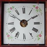 Mahogany Double OG Shelf Clock (Circa 1865), Dial.