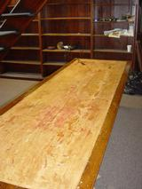 Oak Table at Wigan Library Before Restoration.