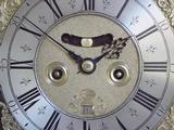 J Mitchell Penny Moon Bracket Clock, (Circa 1715) Centre of Dial.
