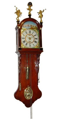 Dutch Walnut Staartklok Antique Wall Clock Circa 1850
